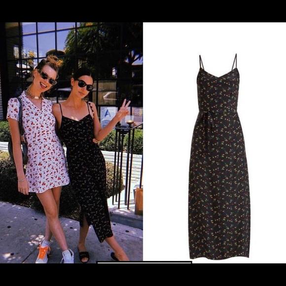 0fd6e6bfec57 HVN Dresses & Skirts - HVN Lily Floral print silk crepe de chine dress